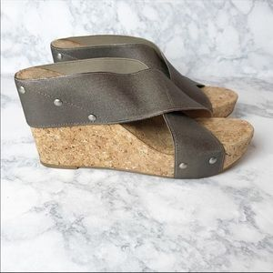 Lucky Brand Cork Wedge Sandals